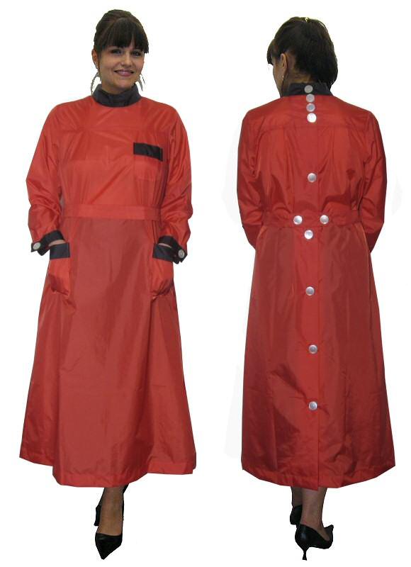 Blouse Nylon Kittel Kleid Schürze hinten geknöpft 48 | eBay